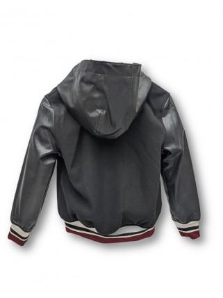 Jachetă Letterman cu glugă